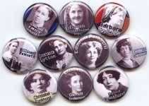 Suffragette buttons