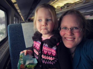 Ruthie & Me on the train