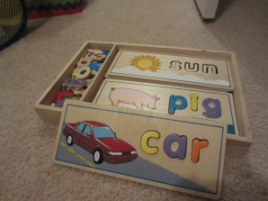 Melissa & Doug See and Spell puzzle