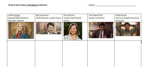 parks and rec worksheet
