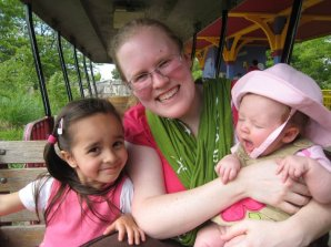 Arya, me, and Ruthie at the Indianapolis Zoo