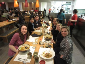 UNH friends at Wagamama