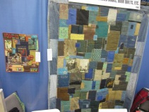 This book quilt was just one of Joe DeCamillis's gorgeous altered book proejcts available for display and purchase.