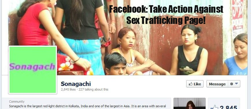 Facebook: Take Action Against Sex Trafficking Page!