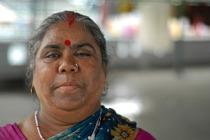 A woman at Shanti Dan.