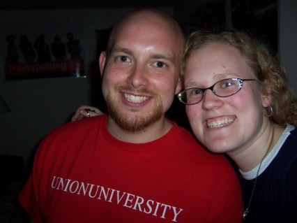 The first picture of the two of us together. (2005)