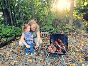 A campfire last summer