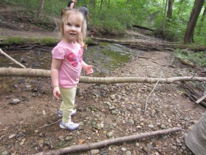 Ruthie playing at Mounds State Park in Indiana this summer