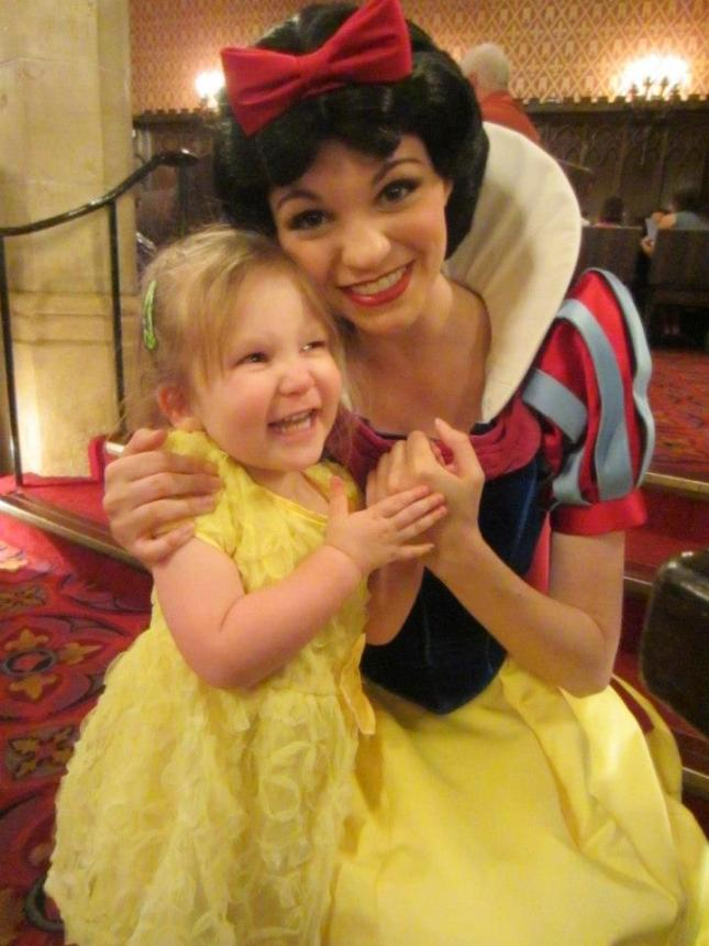 Ruthie and her friend Snow White.